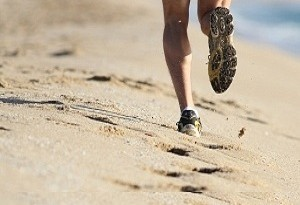 Scarpe per correre sulla spiaggia